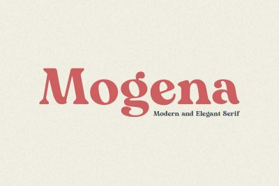 Mogena – Modern Serif Font