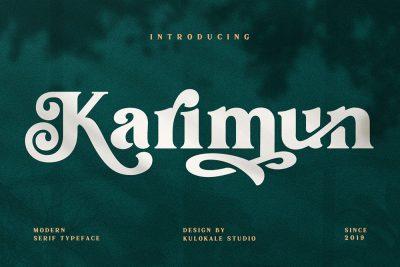 Karimun – Elegant Serif Font