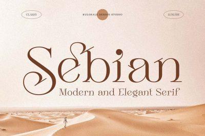 Sebian – Modern Serif Font