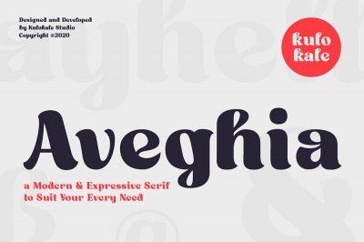 Aveghia Display Font