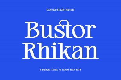 Bustor Rhikan – Slab Serif Font