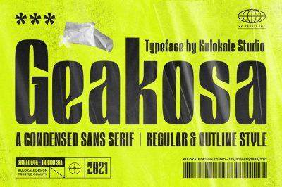 Geakosa Condensed Sans Font